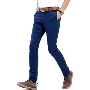 Other - Men100% Cotton Slightly Stretchy Slim Casual Pants